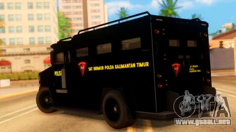Sat Brimob Skin Enforcer from GTA 5 para GTA San Andreas left