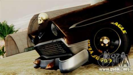 Chevrolet Bel Air 1956 Rat Rod Street para GTA San Andreas vista hacia atrás