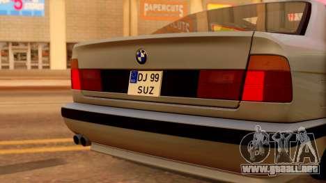BMW M5 E34 Stance para GTA San Andreas vista hacia atrás