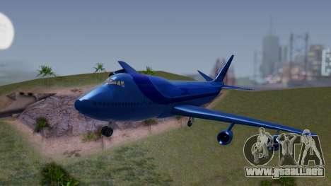 AT-400 Argentina Airlines para GTA San Andreas vista hacia atrás
