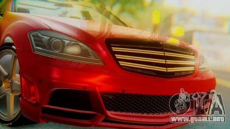 Mercedes-Benz S65 para GTA San Andreas vista hacia atrás