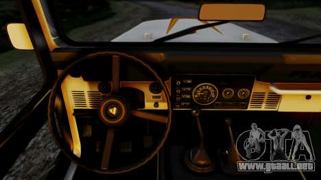 Jeep CJ-7 Renegade 1982 para GTA San Andreas vista posterior izquierda