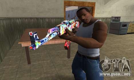 Cool Graf AK-47 para GTA San Andreas segunda pantalla