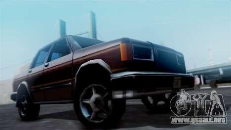 Landstalker Pickup para GTA San Andreas vista posterior izquierda