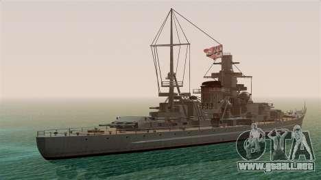 Scharnhorst Battleship para GTA San Andreas left