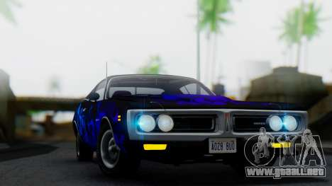 Dodge Charger Super Bee 426 Hemi (WS23) 1971 para vista lateral GTA San Andreas