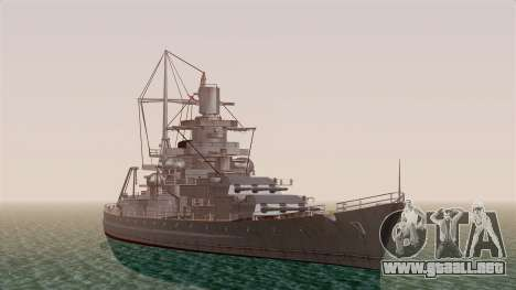 Scharnhorst Battleship para GTA San Andreas