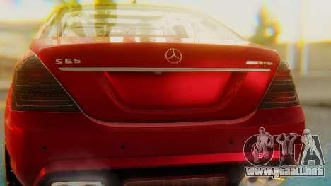 Mercedes-Benz S65 para visión interna GTA San Andreas