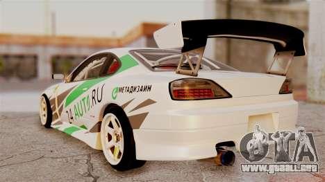 Nissan Silvia S15 24AUTORU para GTA San Andreas left