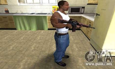 Brown Jungles M4 para GTA San Andreas tercera pantalla