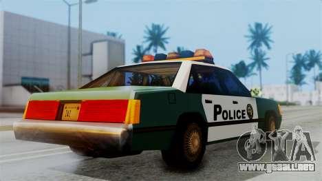 SAPD Cruiser para GTA San Andreas vista posterior izquierda