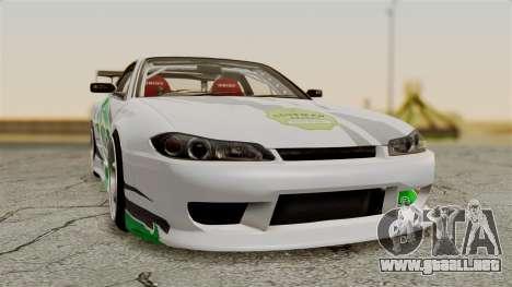 Nissan Silvia S15 24AUTORU para GTA San Andreas vista hacia atrás