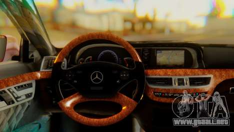 Mercedes-Benz S65 para la visión correcta GTA San Andreas