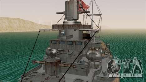 Scharnhorst Battleship para la visión correcta GTA San Andreas