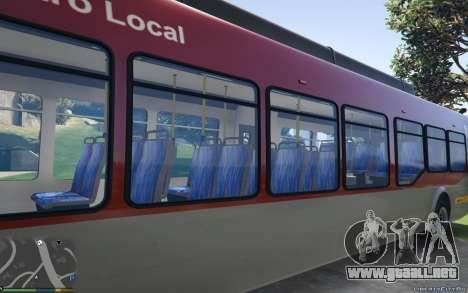 GTA 5 New Bus Textures v2 vista lateral izquierda trasera