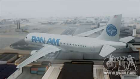Airbus A320-200 Pan American World Airlines para GTA San Andreas left
