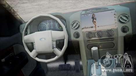 Ford F-150 2005 Single Cab para GTA San Andreas vista posterior izquierda