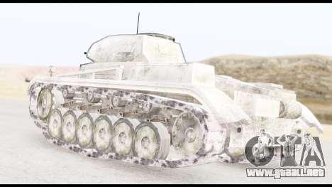 Panzerkampwagen II Snow para GTA San Andreas left