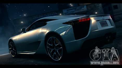 Lexus LF-A 2010 EPM para GTA 4 left