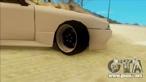 Elegy by PROFF para GTA San Andreas vista posterior izquierda