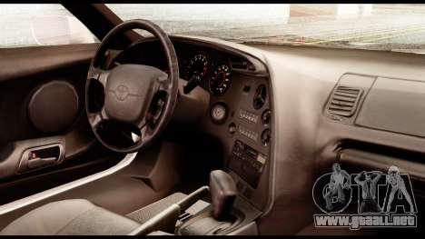 Toyota Supra Full Tuning v2 para la visión correcta GTA San Andreas