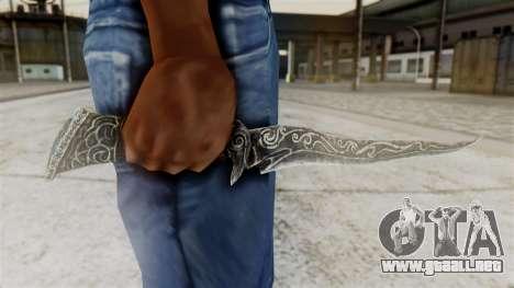 Ebony Dagger para GTA San Andreas tercera pantalla