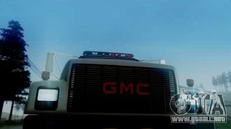 GMC Topkick Towtruck para GTA San Andreas vista posterior izquierda