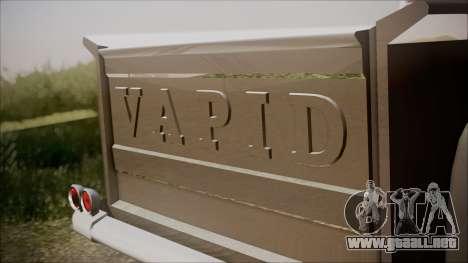 GTA 5 Vapid Slamvan Pickup IVF para GTA San Andreas vista hacia atrás