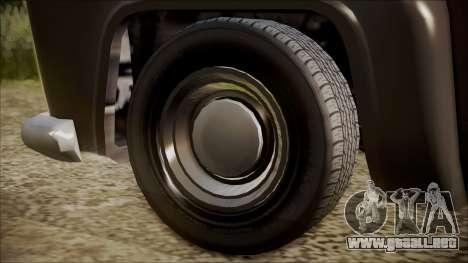 GTA 5 Vapid Slamvan Pickup IVF para GTA San Andreas vista posterior izquierda