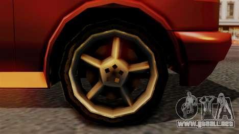 Club New Edition para GTA San Andreas vista posterior izquierda