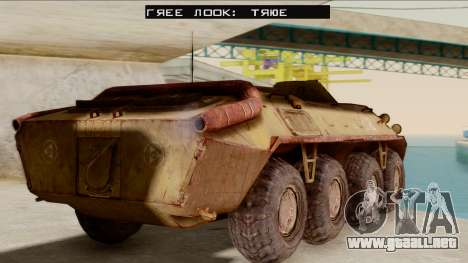 БТР-70 Óxido de S. T. A. L. K. E. R. para GTA San Andreas left