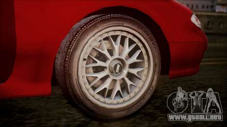 Mazda MX-6 (GE5S) para GTA San Andreas vista hacia atrás