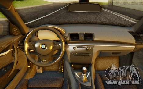 BMW 1M E82 para GTA San Andreas vista hacia atrás