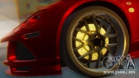 Lotus Europe S Wide para GTA San Andreas vista posterior izquierda