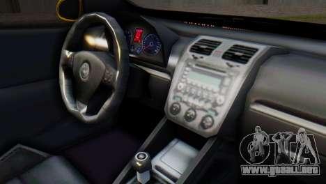 Volkswagen Golf R32 AirQuick para la visión correcta GTA San Andreas