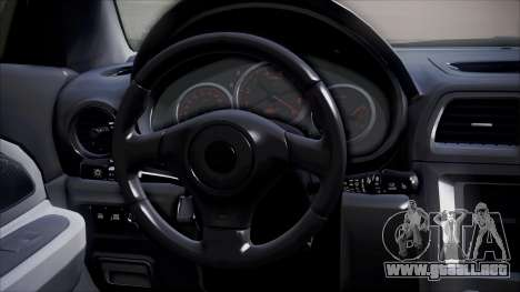 Subaru Impreza para GTA San Andreas vista hacia atrás