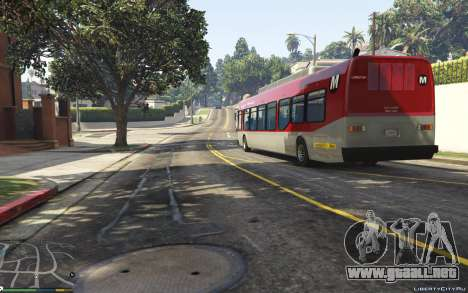 GTA 5 New Bus Textures v2 vista trasera