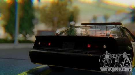 Buffalo Sheriff para GTA San Andreas vista hacia atrás