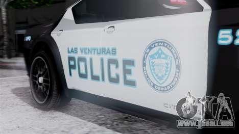 Hunter Citizen Police LV IVF para la visión correcta GTA San Andreas