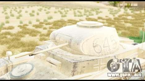 Panzerkampwagen II Desert para la visión correcta GTA San Andreas