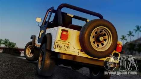 Jeep CJ-7 Renegade 1982 para GTA San Andreas left