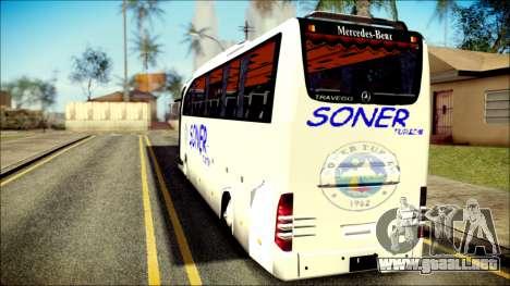 Mercedes-Benz Travego Soner Turizm para GTA San Andreas left