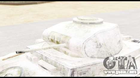 Panzerkampwagen II Snow para la visión correcta GTA San Andreas