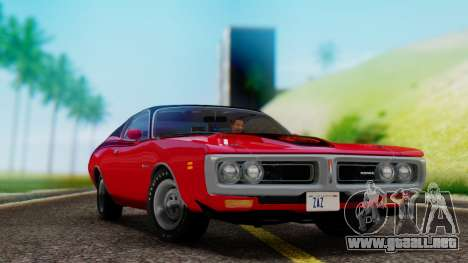 Dodge Charger Super Bee 426 Hemi (WS23) 1971 para GTA San Andreas vista hacia atrás