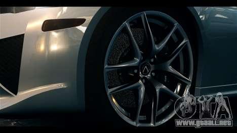 Lexus LF-A 2010 EPM para GTA 4 visión correcta