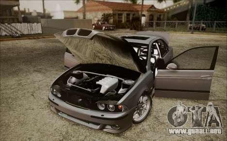 BMW M5 E39 E-Design para GTA San Andreas vista hacia atrás