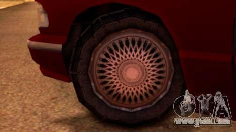 Premier Pickup para GTA San Andreas vista posterior izquierda