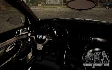 BMW M5 E39 E-Design para la visión correcta GTA San Andreas