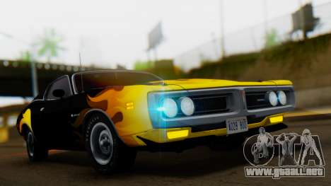 Dodge Charger Super Bee 426 Hemi (WS23) 1971 para visión interna GTA San Andreas