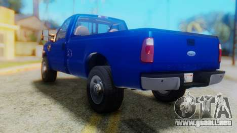Ford F-350 Super Duty Regular Cab 2008 HQLM para GTA San Andreas left